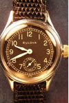 bulova manual chrome wristwatch