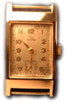 Gold record manual watch