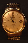 Stainless steel omega constellation watch