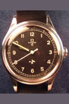 omega military stainless steel watch