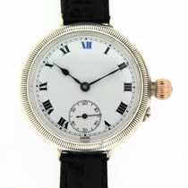 silver trench watch circa 1911