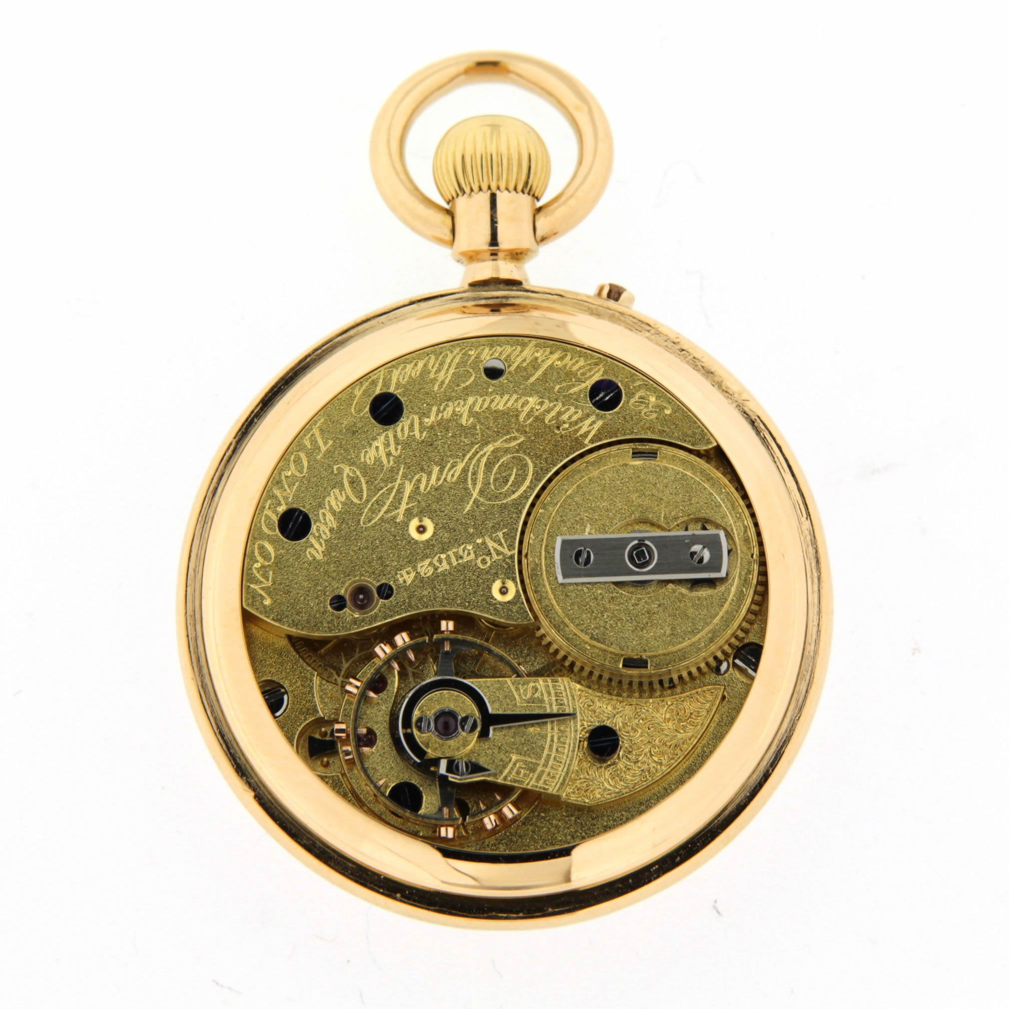 dent 18ct gold fob watch  80502